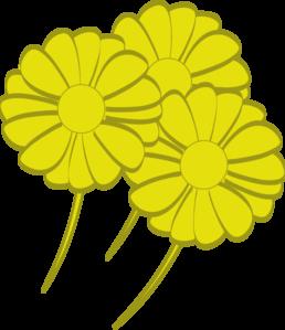Yellow Flowers Clip Art at Clker.com.