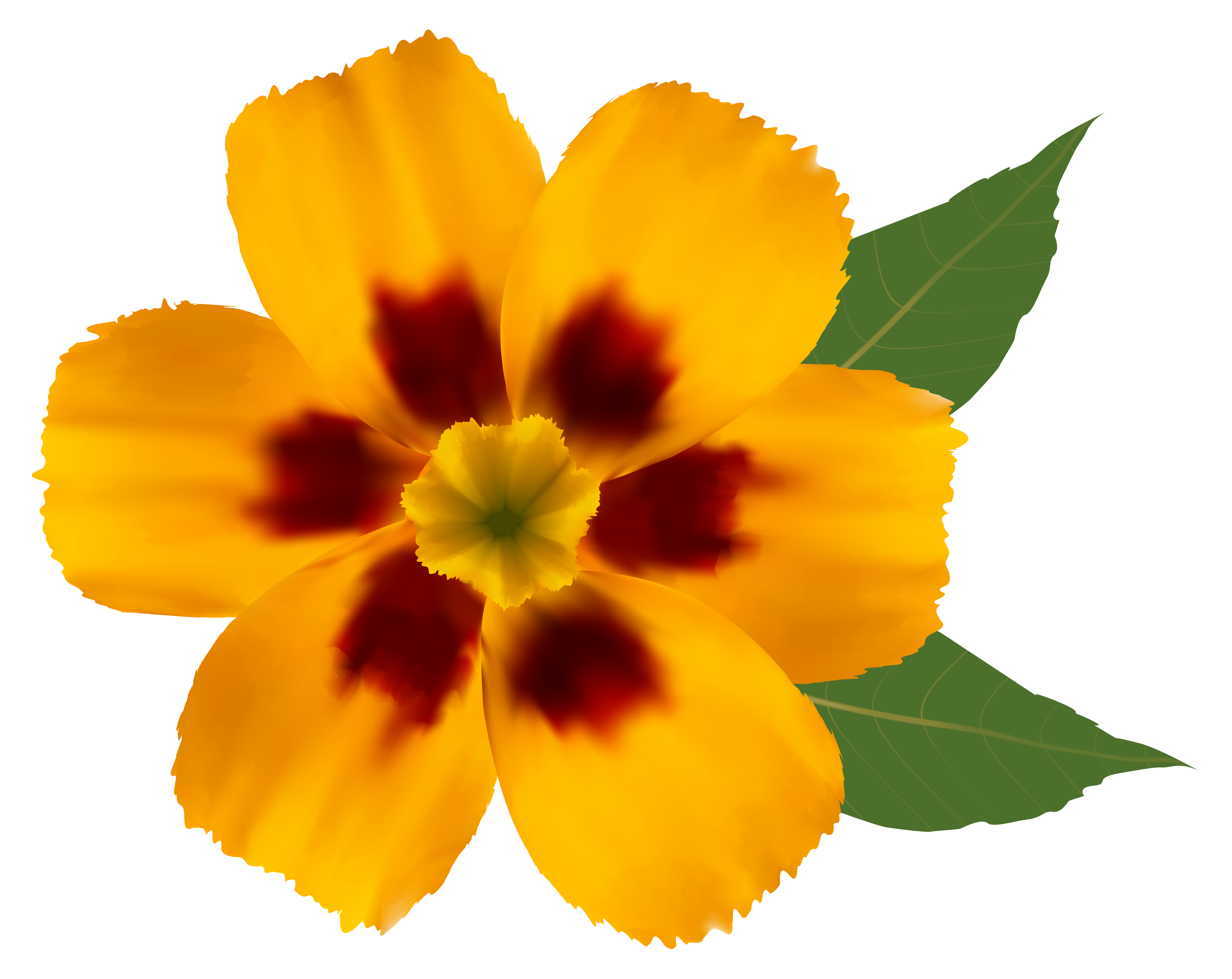 Yellow Flower PNG Clipart Image.