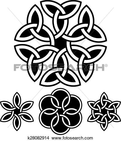Clipart of A set of flower.