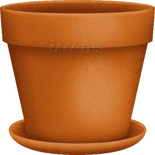 Free clipart flower pot.