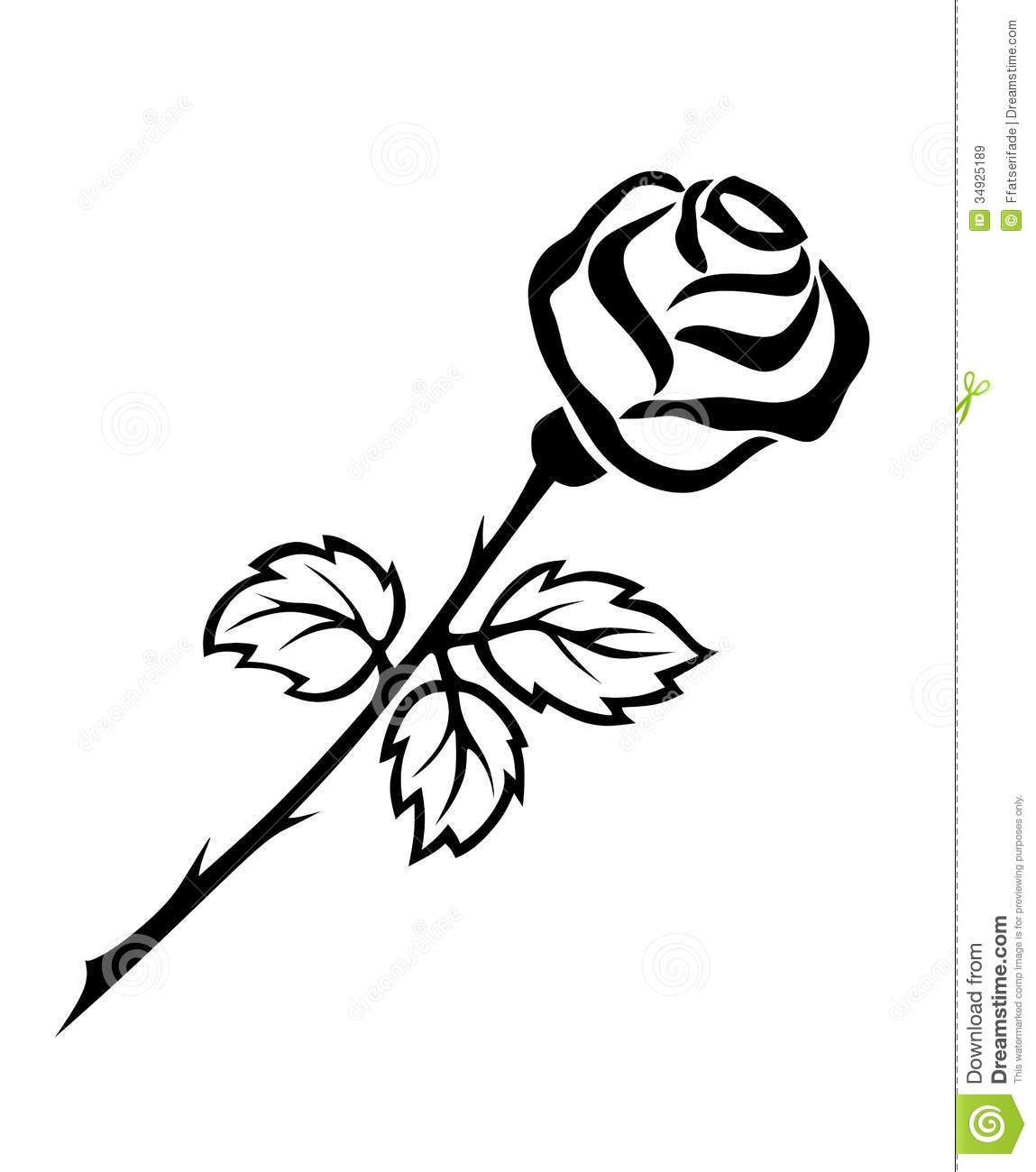 Black Rose White Flower Clipart.