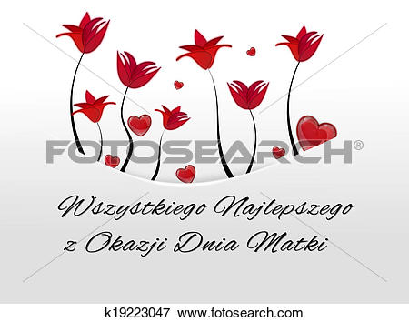 Stock Illustration of White card, pocket with red flowers and.