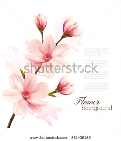 Pink Flowers Background Stock Images, Royalty.