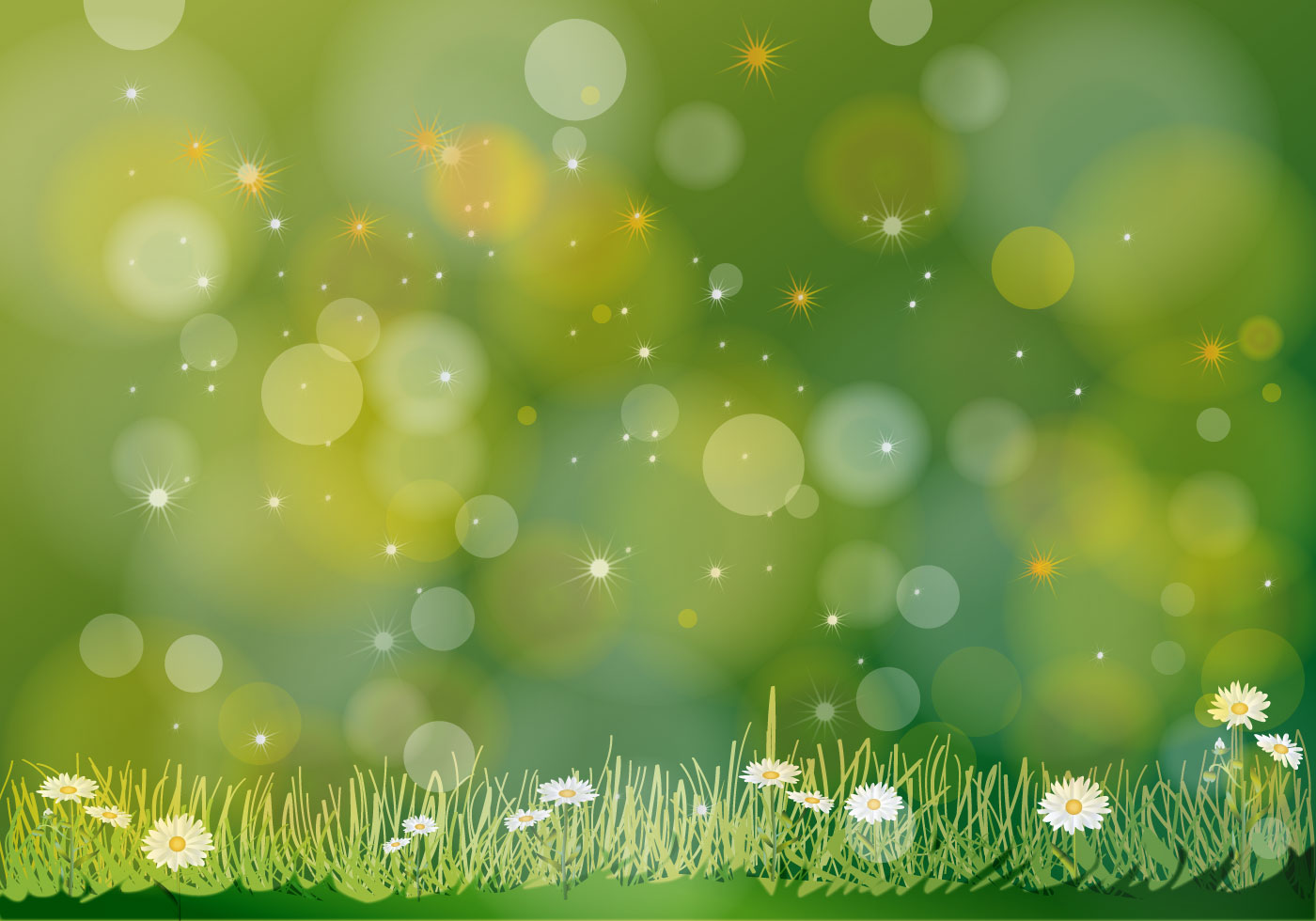 Green Flower Background Free Vector Art.