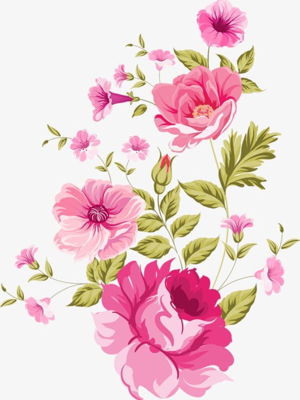 Watercolor Flowers Bloom PNG, Clipart, Backgrounds, Beauty.