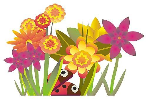 August Flower Clipart.