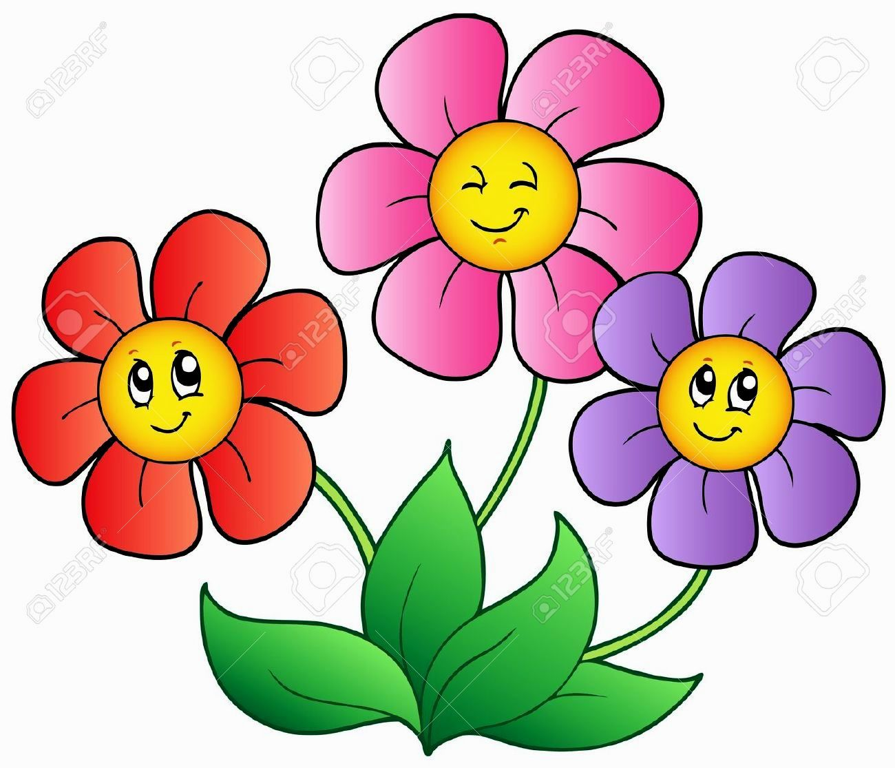 Pictures Of Cartoon Flowers  Visit Website for More.