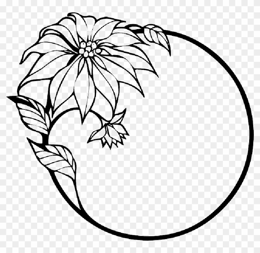 Flowers Clip Art Black And White Border.