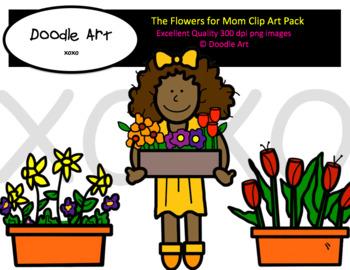 Flowers for Mom Clip Art Pack.