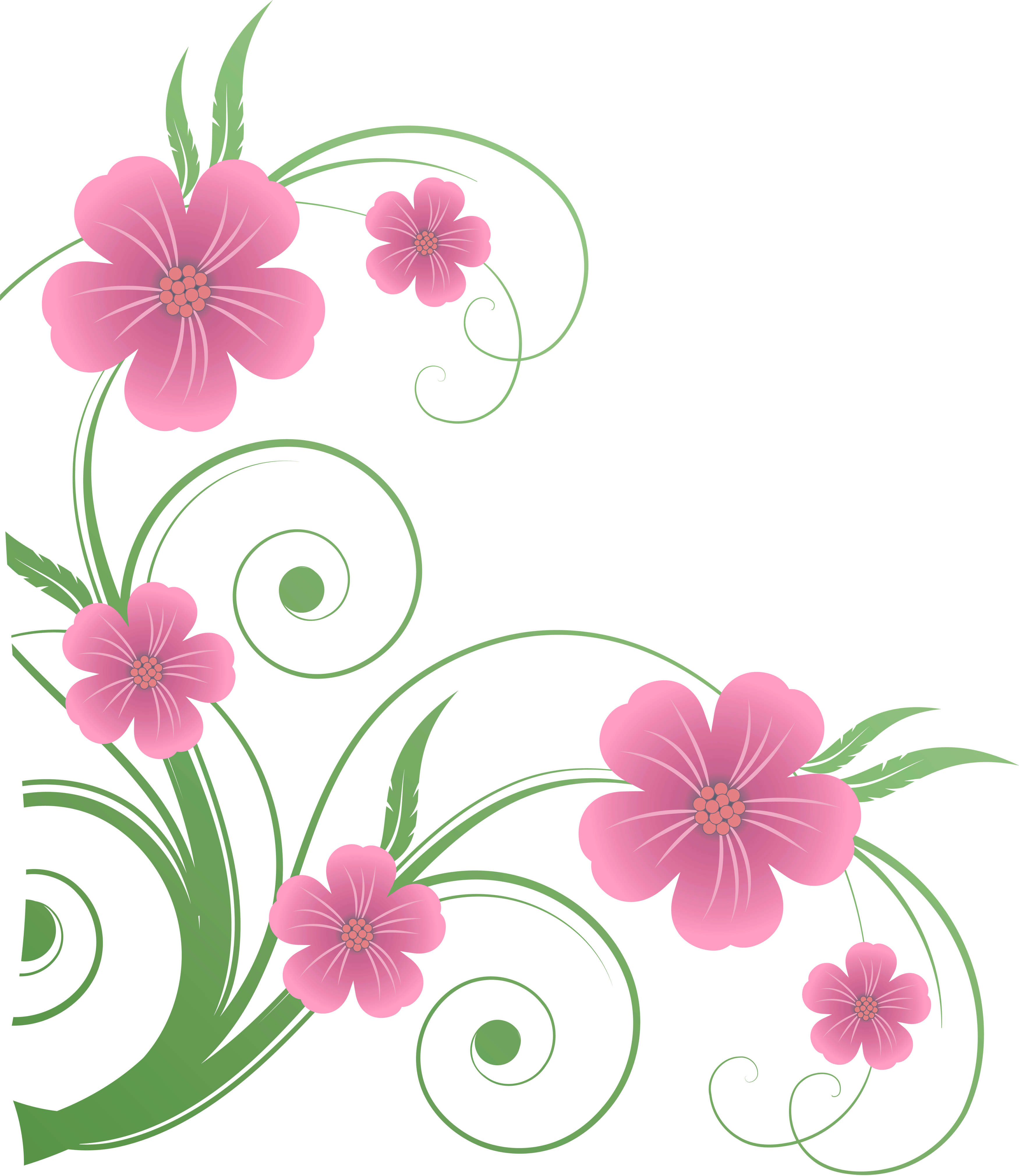 Flowers decor clipart #12