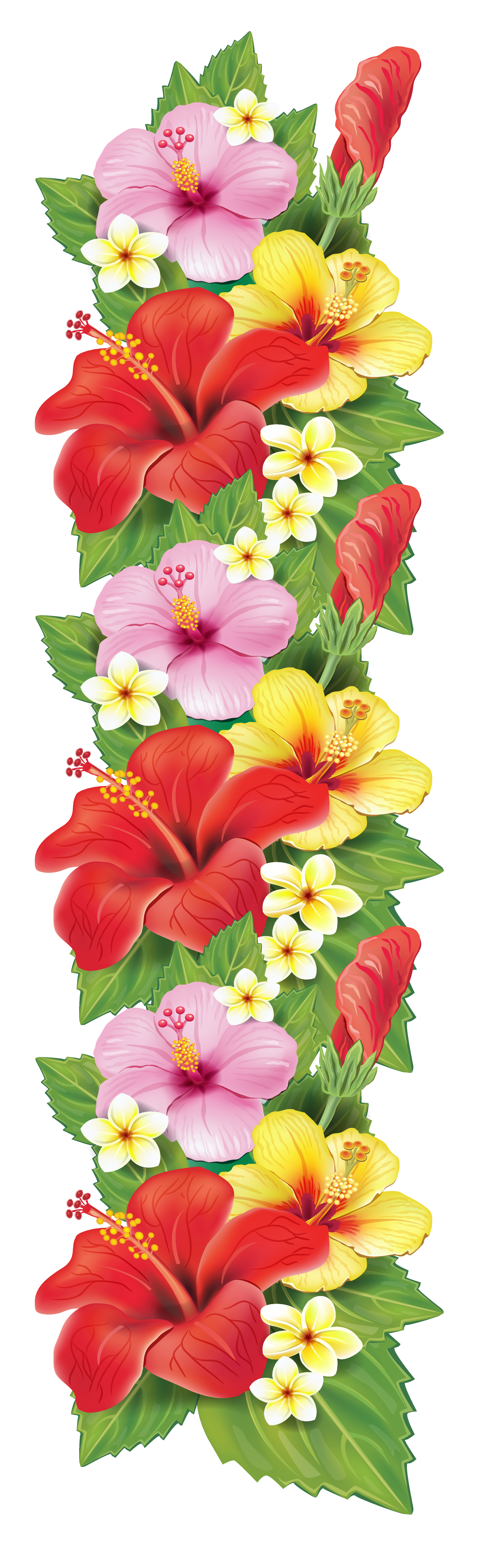Exotic Flowers Decoration PNG Clipart.