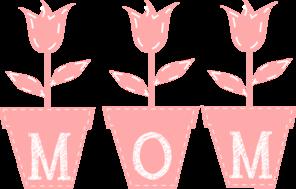 Mom Tulips Clip Art at Clker.com.