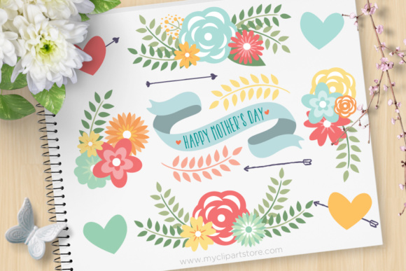 Spring Flowers Mom Clipart.