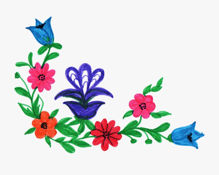 Corner Flower Design Png Hd , Transparent Cartoon, Free.