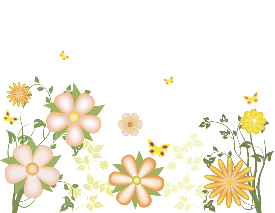 Yellow Flowers Free Transparent Clipart.