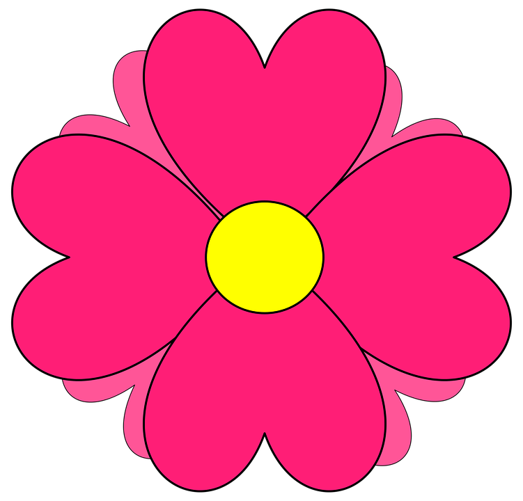 Free vector graphic: Flower, Pink, Nature, Icon, Drawing.
