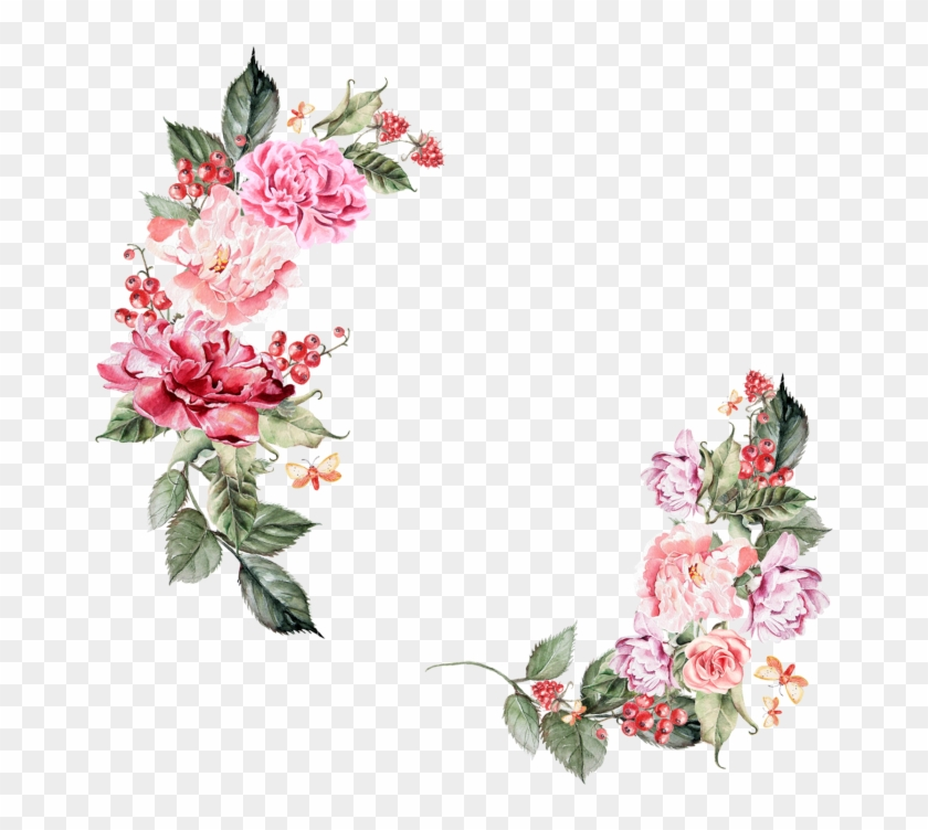 Floral Border Hd, HD Png Download (#118672), Free Download on Pngix.