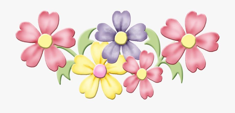 Spring Flowers Clip Art.