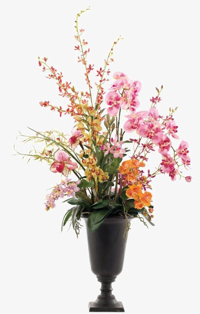 Phalaenopsis Flower Vase Decorated Soft Furnishings Installed.