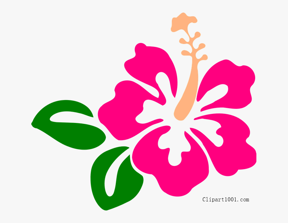 ← Hawaiian Flower Clipart Template.