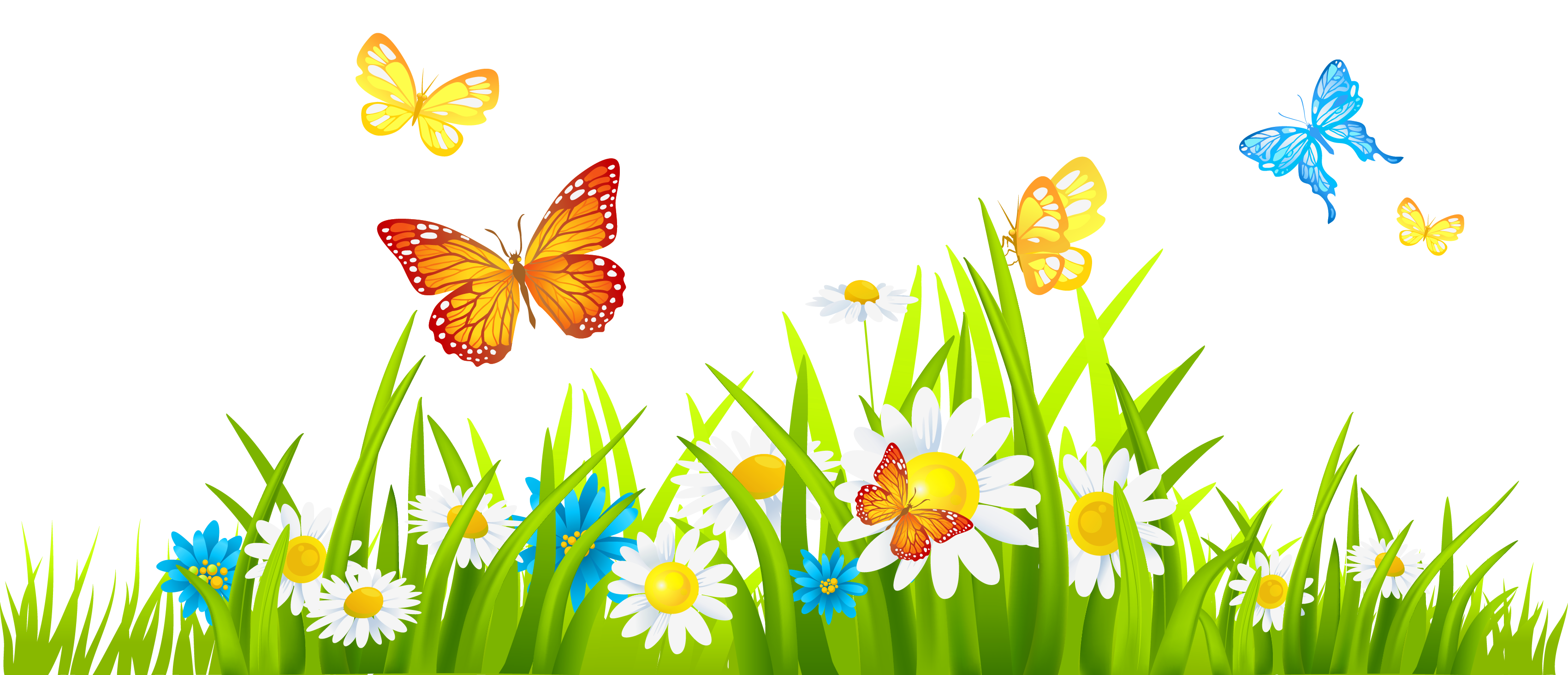 Grass and flowers clip art free clipart images clipartwiz.