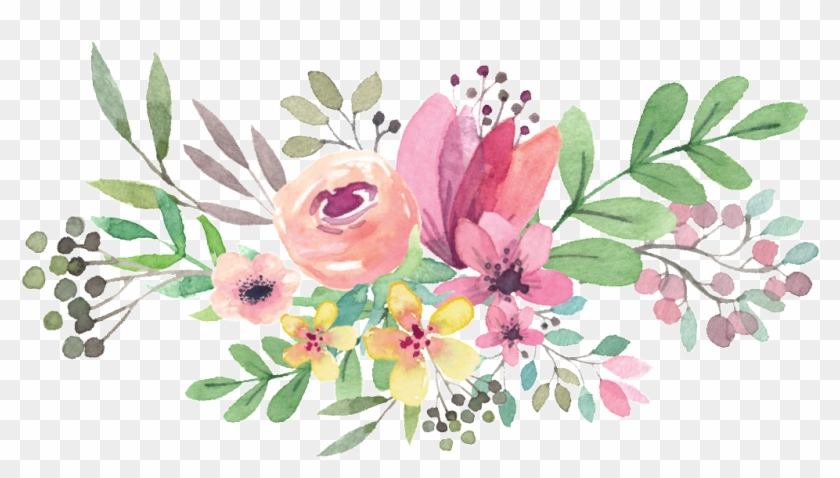 Free Png Download Watercolor Flowers Vector Png Images.