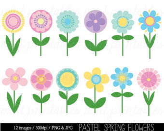 Spring clipart pastels.