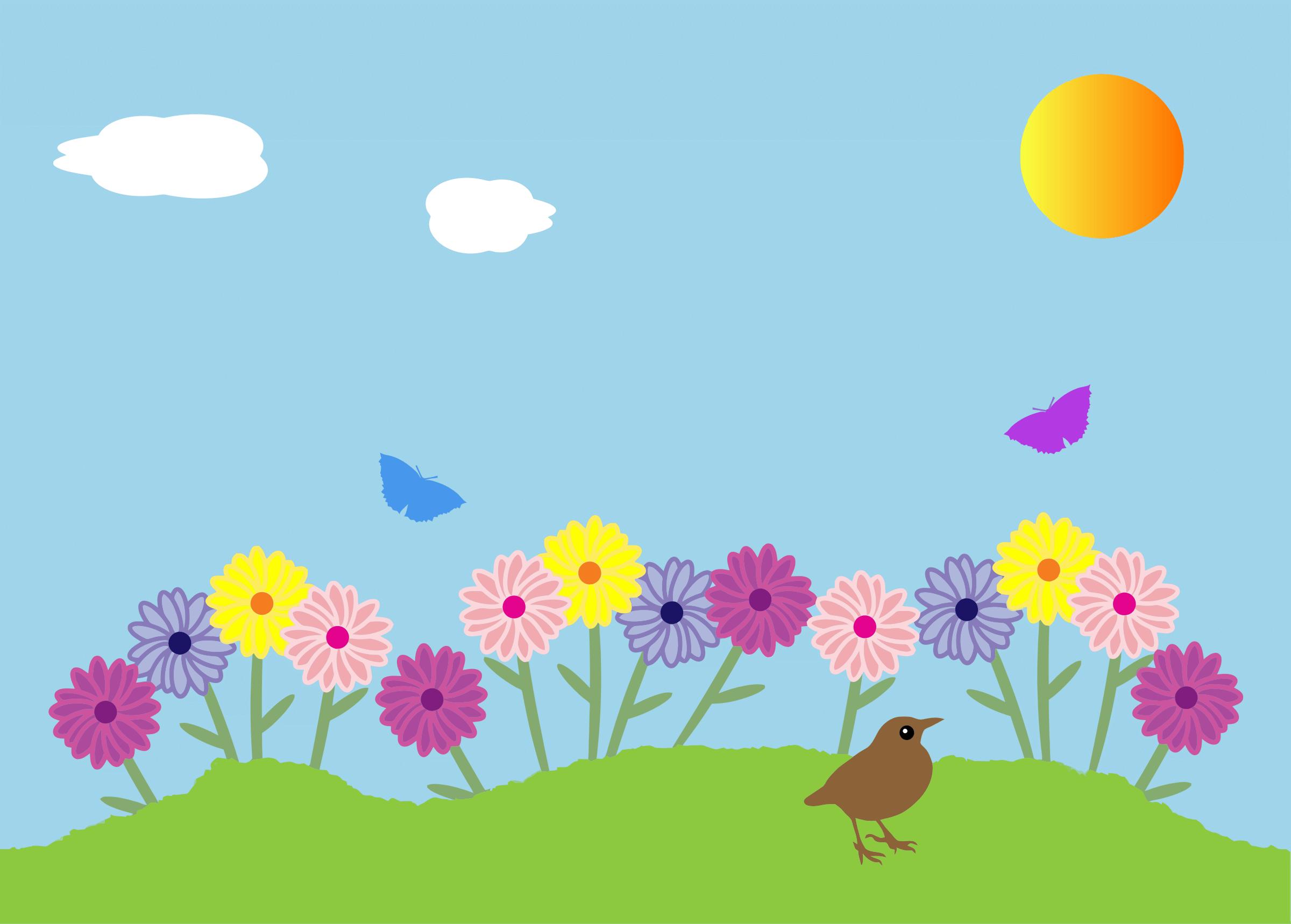 Flower Garden Cliparts.