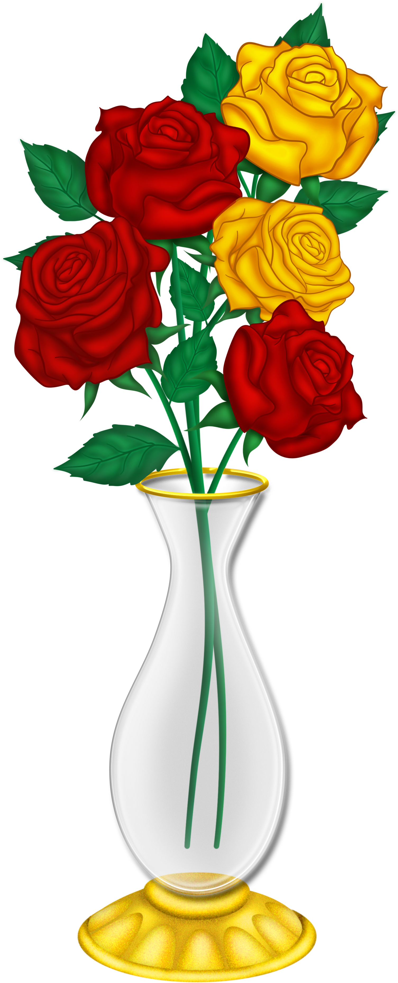 HD Beautiful Flower Vase With Flowers Png.