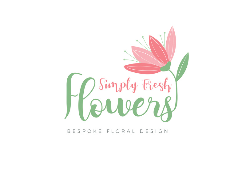 Simple Fresh Flowers Logo Design by Maja Stevanovic on Dribbble.
