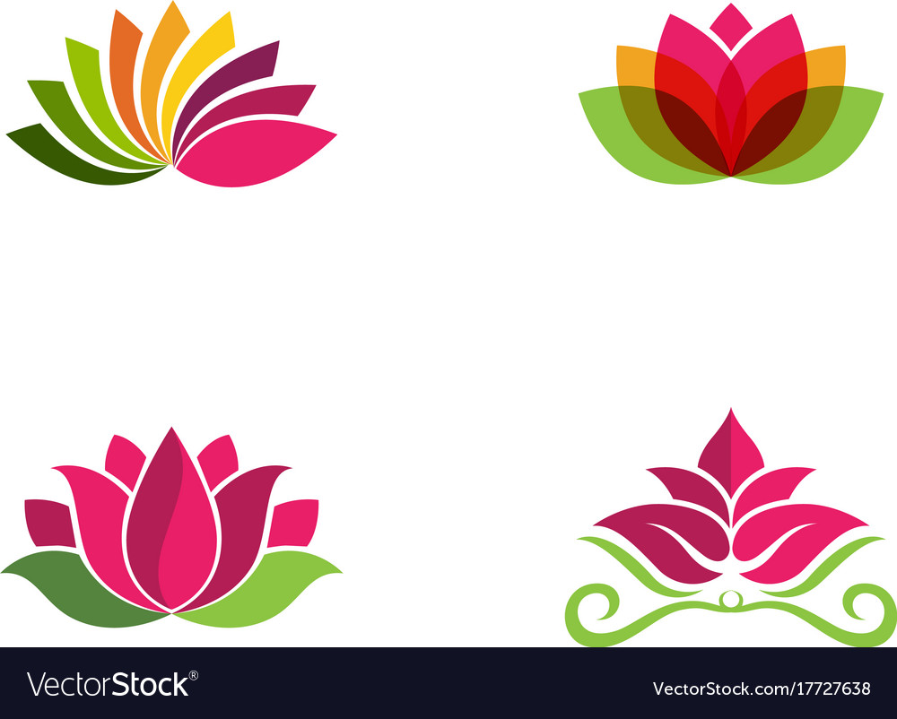 Beauty flowers logo.