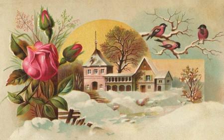 Vintage Spring Clipart.