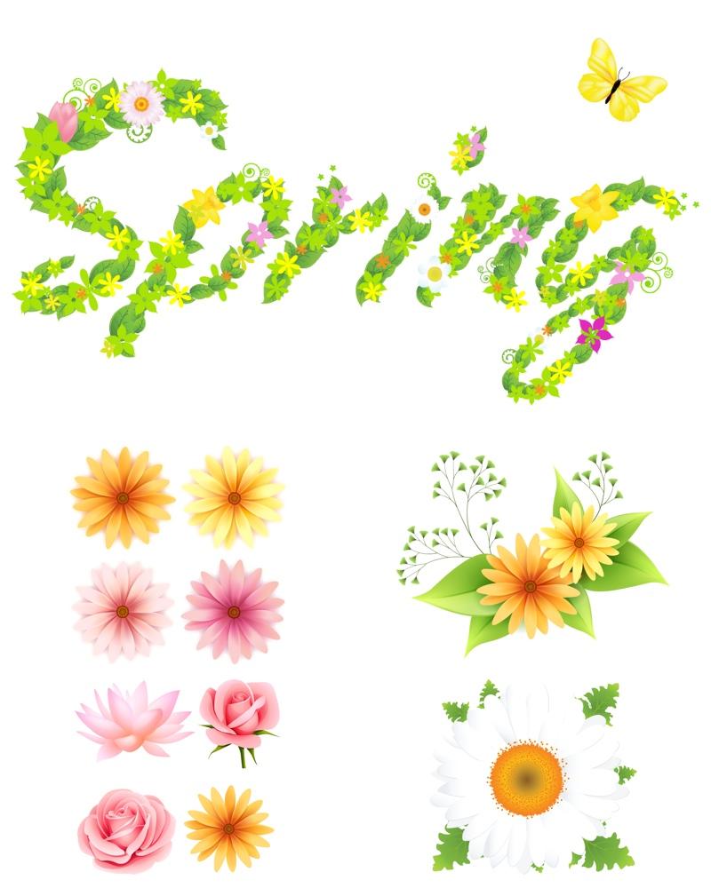 Springtime graphics.