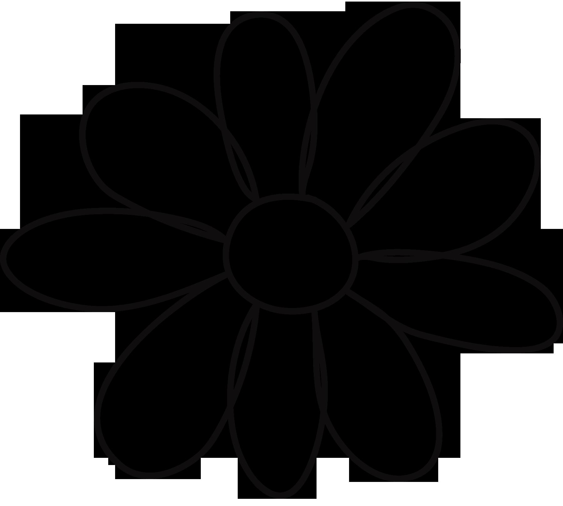 10 petal flower template.