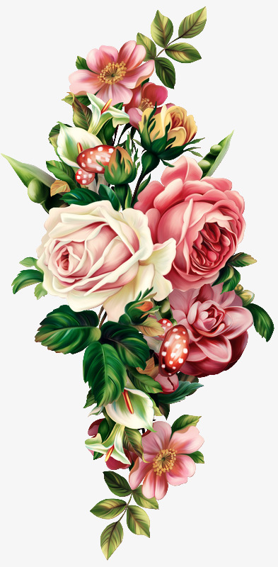 Vintage Floral PNG Images.