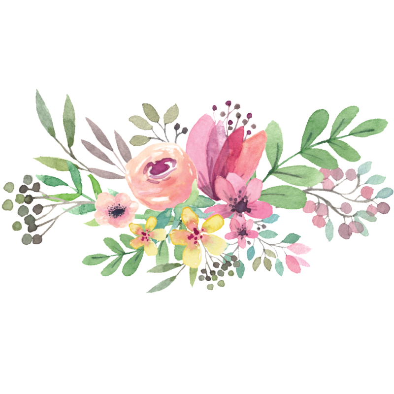Download Free png Watercolor Flowers PNG Transparent File.