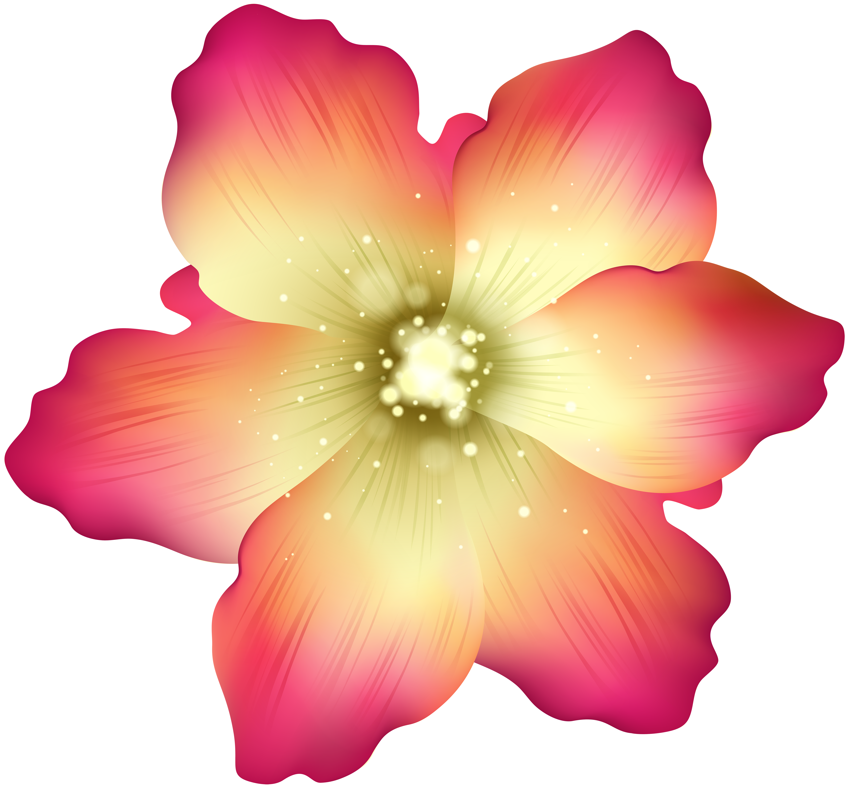Deco Flower PNG Transparent Clip Art Image.