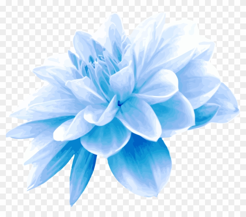 Aqua Blue Flower Png.