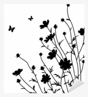Flower Silhouette PNG, Transparent Flower Silhouette PNG Image Free.