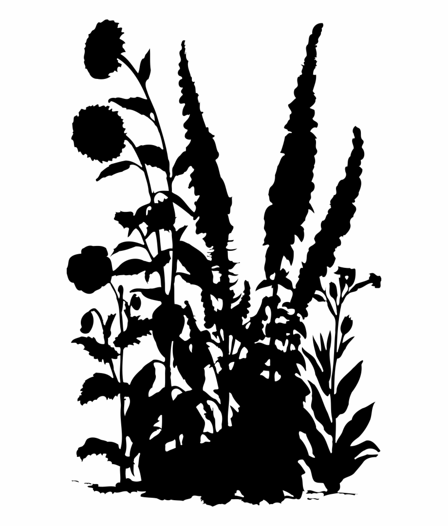Flowers 15 Silhouette.