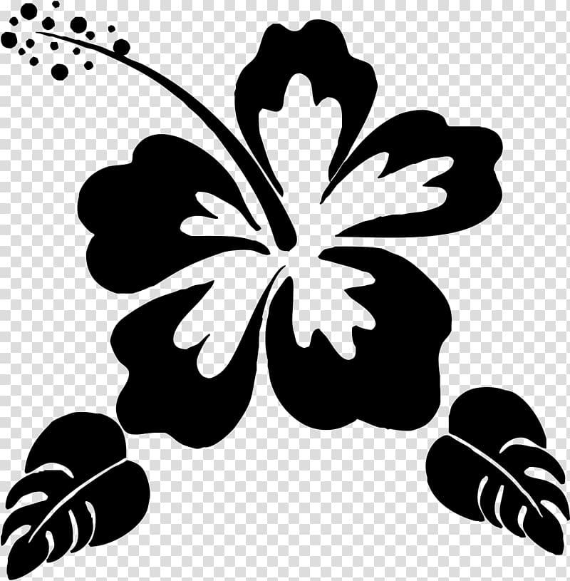 Hibiscus art, Silhouette Flower Stencil , Hawaii flower transparent.