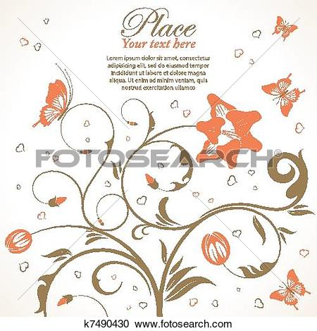 Clipart of Flowers theme k7490430.
