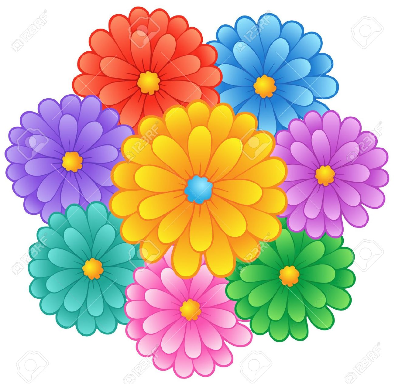 Flowers theme clipart clipground cartoon pictures of flowers mightylinksfo