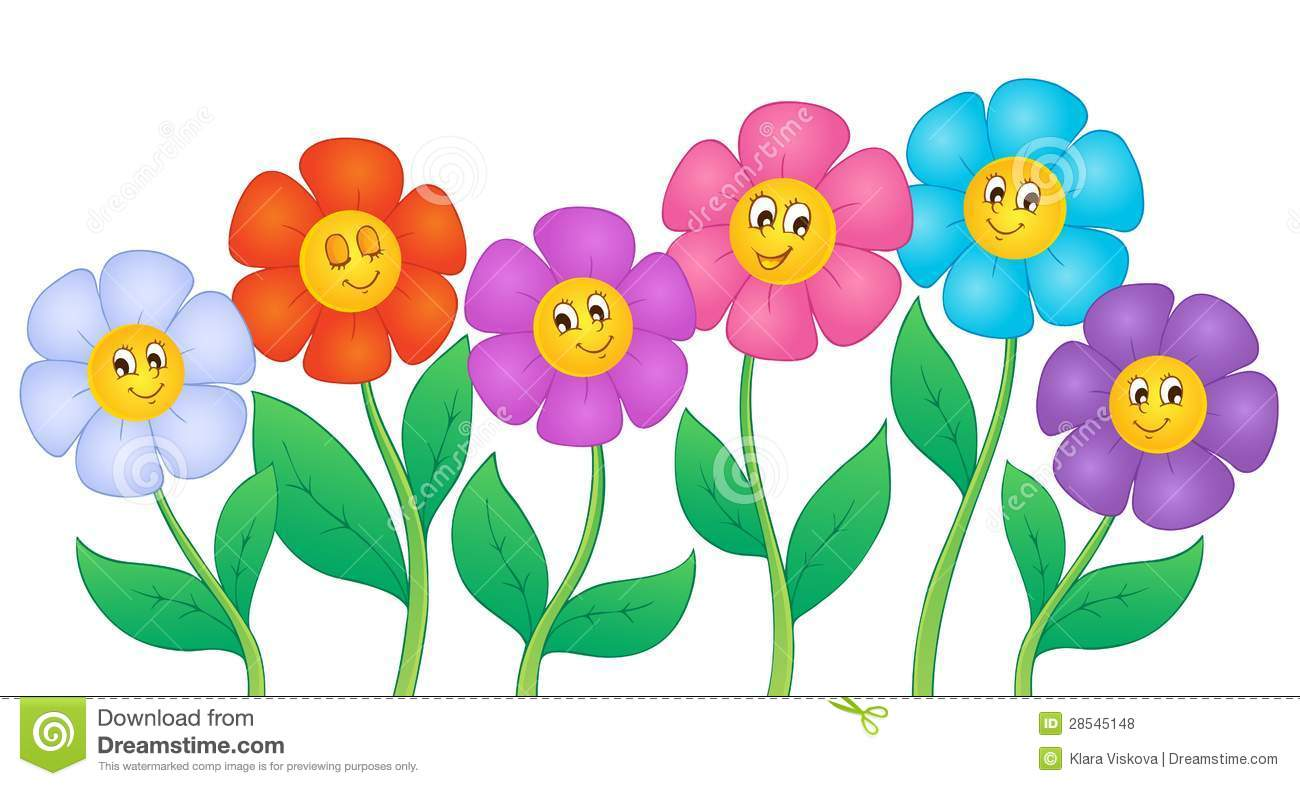 Abstract Retro Flowers Clipart Royalty Free Stock Photos.