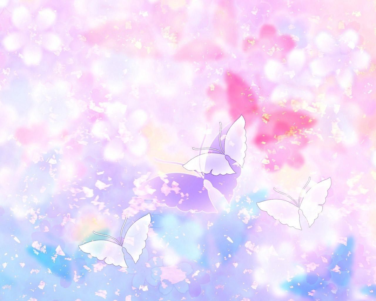 Clip Art Butterflies And Flowers.