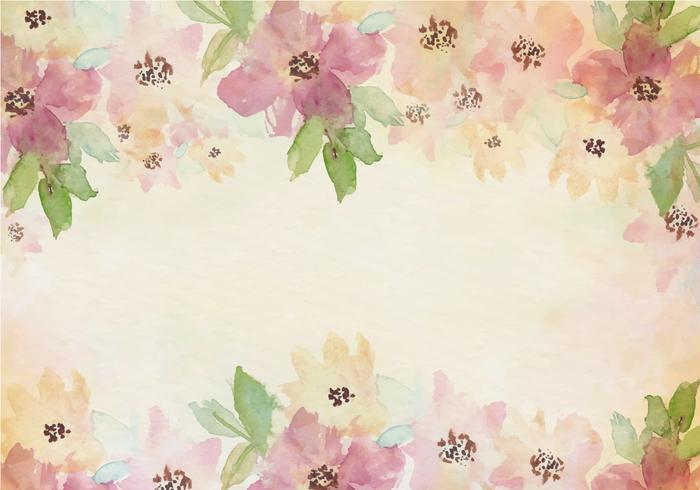 Free Vector Vintage Watercolor Background With Painted.
