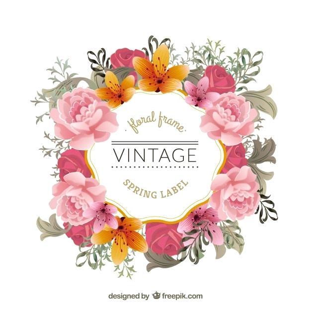 flowers vintage vector png.