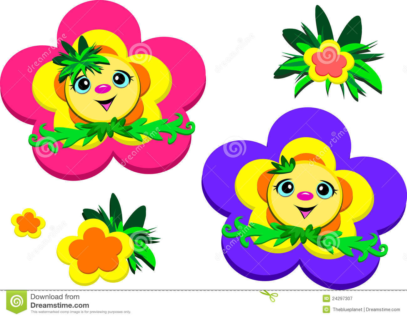 Flowers with faces clipart 7 » Clipart Station.