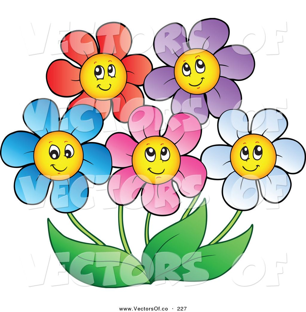 Image result for cartoon flowers with faces.