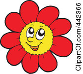Flowers with faces clipart 4 » Clipart Station.